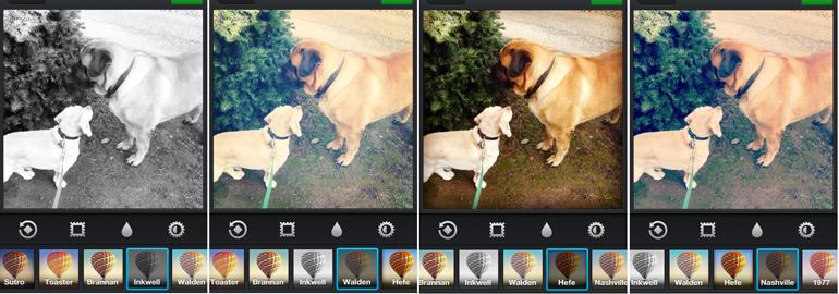 Esempio di come cambia un'immagine lavorata con i filtri  messi a disposizione da Instagram